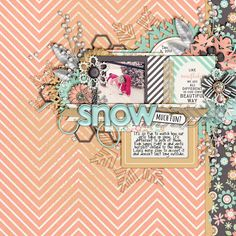 A Snowflake Dream Bundle by Tickled Pink Studio | November 2014 Template by Tickled Pink Studio (blog freebie) | DJB Fangirl
