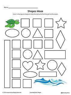 Square Shape Maze Printable Worksheet   Printable worksheets ...