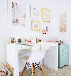 "105 Me gusta, 4 comentarios - GP Sticker Studio (@gp_stickerstudio) en Instagram: ""Desk goals 🙌🏻🙌🏻💕💕💕 #desk #workspace #office #dreamoffice #feminine"""