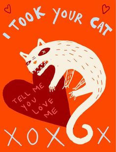 For Valentine's Day, illustrator Anna Strain created a humorous series of cards that lets you creep out your crush. In 'Bad Valentines',. My Funny Valentine, Naughty Valentines, Valentine Day Cards, Illustration Artists, Cute Illustration, Severe Lower Back Pain, Rangoli Patterns, T Shirts With Sayings, Romance