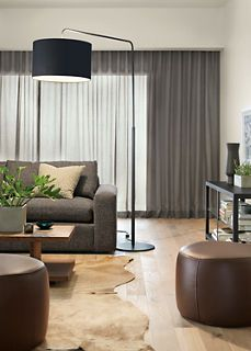 Lind round leather ottoman is a perfect cocktail table, footstool or bench seat for your living room or bedroom. Round Leather Ottoman, Round Ottoman, Contemporary Floor Lamps, Modern Floor Lamps, Modern Lighting, Lighting Design, Overhead Lighting, Contemporary Furniture, Home Design