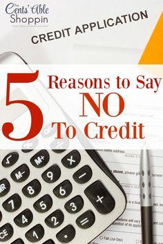 5 Reasons to say NO to Credit