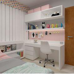 Tiny Bedroom Design, Teen Bedroom Designs, Home Room Design, Small Room Design, Home Office Design, Home Office Decor, Study Room Decor, Cute Room Decor, Room Ideas Bedroom