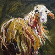 Abstract Sheep Art Print by Diane Whitehead. All prints are professionally printed, packaged, and shipped within 3 - 4 business days. Choose from multiple sizes and hundreds of frame and mat options. Sheep Paintings, Animal Paintings, Canvas Art, Canvas Prints, Art Prints, Goat Art, Sheep Art, Farm Art, Sheep And Lamb