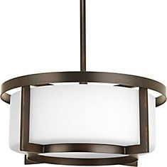 Buy the Progress Lighting Antique Bronze Direct. Shop for the Progress Lighting Antique Bronze DynamO 2 Light Cylinder Pendant with Etched Glass Diffuser - Wide - Convertible to Semi-Flush and save. Kitchen Ceiling Lights, Kitchen Pendant Lighting, Pendant Light Fixtures, Ceiling Pendant, Light Pendant, Drum Pendant, Semi Flush Lighting, Semi Flush Ceiling Lights, Compact Fluorescent Bulbs