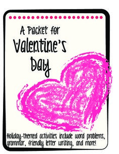 A Valentine's Day Bundle of Fun!  This packet includes holiday-themed activities including word problems, grammar practice, word scrambles, friendly letter writing, and a short writing/history worksheet on Valentine's day!  Enjoy!  http://www.teacherspayteachers.com/Store/Lee-W