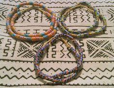 Collana perle pasta di vetro dipinte a mano (Provenienza: Senegal)