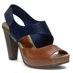 Sandály NESSI - 42103 Granat/Koniak 11