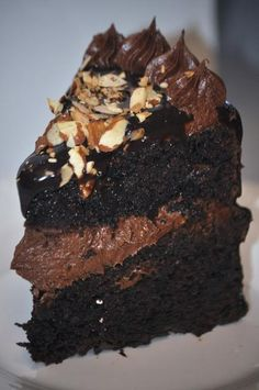 Almost too much chocolate cake