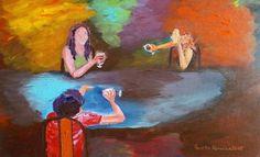 #artBuy Three is Company, Acrylic painting by Geeta Biswas on Artfinder. #art #acrylics #painting #friendship #originalart #contemporaryart #geetabiswas #emergingartist #artforsale