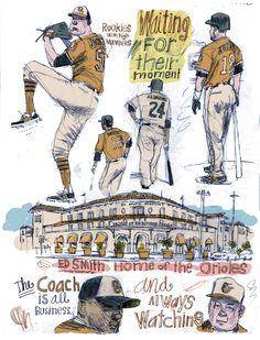 #ReganDunnick #illustration #sports #springtraining #baseball #sports #lindgrensmith