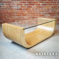 Recently I completed a project that has been on the side burner for some time now. This is a coffee table made from laminating CNC cut pieces of baltic birch plywood, from a single x sheet. Modern Wood Furniture, Glass Furniture, Plywood Furniture, Furniture Making, Furniture Design, Plywood Floors, Kid Furniture, Italian Interior Design, Cafe Interior