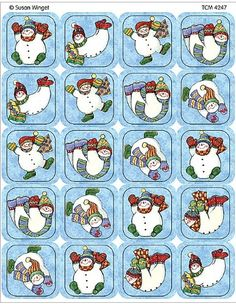 Teacher Created Resources Snowmen Stickers from Susan Winget Multi Color 4247