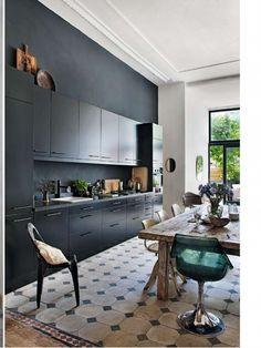 Black kitchen, Muriel Bardinet, serge anton