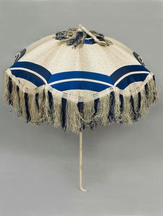 Silk parasol with carved ivory handle, 1850