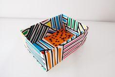 DIY: Come rivestire una scatola in tessuto - How to cover a box with fabric