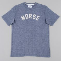 Norse Projects James Athletic Logo S/S T-Shirt - Navy