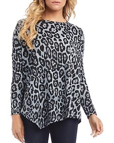 $78.0. KAREN KANE Top Asymmetric Leopard Print Top #karenkane #top #clothing
