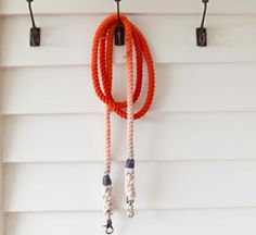Sailor Rope Lead in Orange Ombre by Wolves of Wellington // #Doglead #Ropelead
