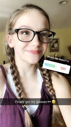 Nahhhh I hate them you are better without glasses but you're beautiful I Need A Girlfriend, Jayden Bartels, Jad, Beautiful Goddess, Pretty And Cute, Pure Beauty, Celebs, Celebrities, Blonde Hair