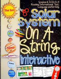 Solar System: On A String Interactive {Create, Facts, and Fill Ins}INCLUDES:The entire solar system is included in this pack.Once assembled your students will love that it will actually look like the solar system in the order in which the planets appear. Space Activities, Science Activities, Science Projects, Science Experiments, Science Fun, School Projects, Science Ideas, School Ideas, Sistema Solar