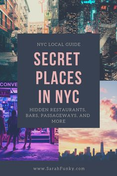 Places in NYC Hidden gems and secret spots are what makes New York City a fun place to explore. Click through to read my post on the Secret Places in NYC - written by a local. I go over secret restaurants, bars, passageways, and other fun finds in NYC. New York City Vacation, Visit New York City, New York City Travel, New York City Bars, London Travel, Lower Manhattan, Manhattan New York, Nyc Hidden Gems, Brooklyn Bridge