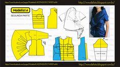 Neckline pattern 4 dress ModelistA: GOLA SEG PARTE