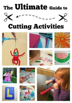Here is your ULTIMATE guide to cutting and scissor skills for toddlers, preschoolers and kindergartners. Scissor skills is such an important school skill, but one that sometimes intimidates parents (how many children have given themselves a haircut?). Here are creative ways to build fine motor skills and work on scissor cutting, no bangs required. Fine Motor Activities For Kids, Motor Skills Activities, Preschool Learning, Fine Motor Skills, Preschool Activities, Teaching Kids, Dementia Activities, Physical Activities, Cutting Activities For Kids