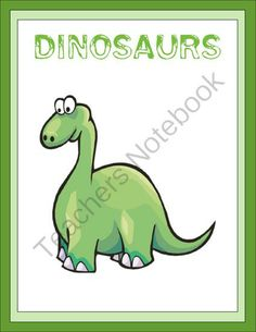 Dinosaur Thematic Unit from Joy of Learning on TeachersNotebook.com (15 pages)  - The Dinosaur Unit is a favorite of all children. The information includes the different kinds of dinosaurs. It gives facts about their size, where they live, what they ate, fossils and skeletons. Some of the dinosaurs mentioned are the Tyrannosaurus Rex,