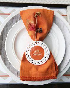 Orange Placemat | Thanksgiving Tablescape