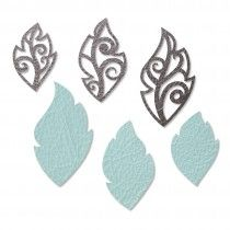 Sizzix Movers & Shapers Magnetic Die Set 3PK w/Thinlits - Leaf Charms
