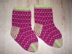Purple moss socks
