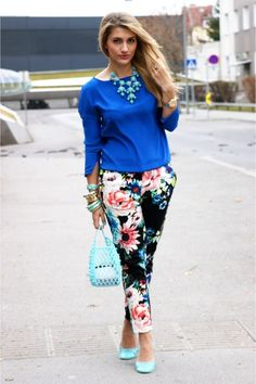 A little inspiration on how to rock my new floral crops....