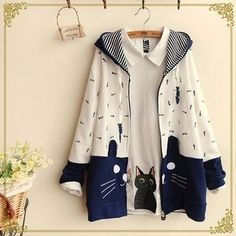 Buy 'Fairyland – Cat Applique Hooded Jacket' with Free International Shipping at YesStyle.com. Browse and shop for thousands of Asian fashion items from China and more!
