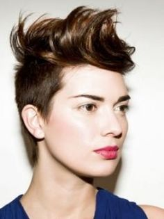 Short Mohawk - Everytime I think 'I'm going to grow my hair out again' I see a picture like this and book an appointment to cut my hair shorter. No self control lol.