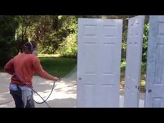 Spraying Interior Doors - Interior House Painting - YouTube & Painting Doors With A Paint Sprayer. Spraying Interior Doors ...