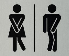 Little Boys Girls Restroom Bathroom Door Sign Custom Vinyl