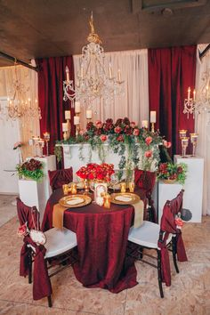 Gorgeous set up in our inspiration studio! Our gold chandeliers add that perfect sparkle! Dustin Leader Photography