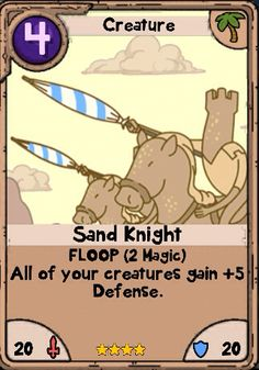 Adventure Time Card Wars - Sand Knight - Sandy Lands Card