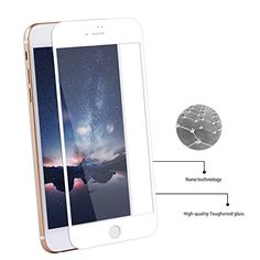 iPhone 7 Screen Protector, Tempered Glass Screen Protector for Apple iphone 7 (White) Iphone 7 Screen Protector, Iphone 7 Plus Cases, Tempered Glass Screen Protector, Apple Iphone, Touch, Accessories, Ornament