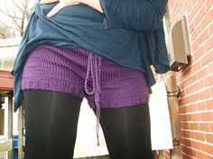 Ravelry: Great free knitted shorts pattern....cashmere bright yellow? Or fawn and yellow trim?