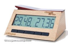 New chess clock CHESS PLUS This is a brand new product. Wooden casing with wooden buttons - high quality made Easy setup and similar to others well made clocks All types of timers Low batterries consumption in full accordance with all FIDE rules and regulations Large display with anti-reflective glass Compatible with e-boards Time saved even when the clock turns off  Easy time correction in case of players illegal move Turn On/Off move counting mode Turn On/Off time stop mode after flag fall Free Girl Games, Games For Girls, Chess Store, Luxury Chess Sets, Chess Books, Logic Games, Daily Deals, Arduino, New Product