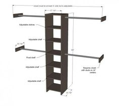 Dimensions For Half Height And Full Height Hanging Spaces