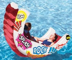 Aqua Rocker inflatable swimming pool float is a great pool toy. Unique swimming pool toy for 1 or 2 people rocks on swimming pool water surface. Swimming pool toys and pool floats from In The Swim.