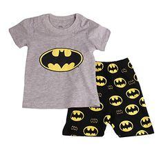 d08dc4a3c9c Gray Bat Boys Shorts 2 Piece Pajama Set 100% Cotton G6057... https