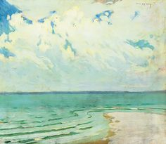 Calm on the Lake Balaton   -   János Vaszary  Hungarian, 1867-1939   Oil on canvas,  33 x 38.5 cm (13 x 15.2 in)   via Cozyhuarique