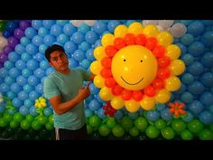 Como hacer un sol con globos # 36 - YouTube
