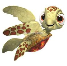 """4"""" SQUIRT SEA TURTLE FINDING NEMO Removable Wall Decal Sticker Art Home Decor"""