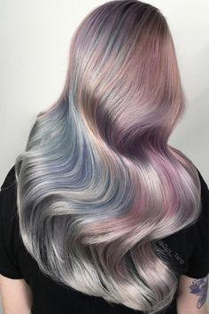 2016 hair trends: Metallic hair by Guy Tang Metallic Hair Dye, Granny Look, Hair Styles 2016, Long Hair Styles, Guy Tang Hair, Dyed Hair Pastel, Corte Y Color, Coloured Hair, Hair Color Dark