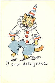 a funny little louis wain cat